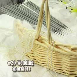 72pc #20 Wedding Sparklers 9 Packages of 8 Sparklers