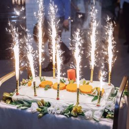 24pc Pack Big Birthday Cake Sparklers burns approx. 45 seconds